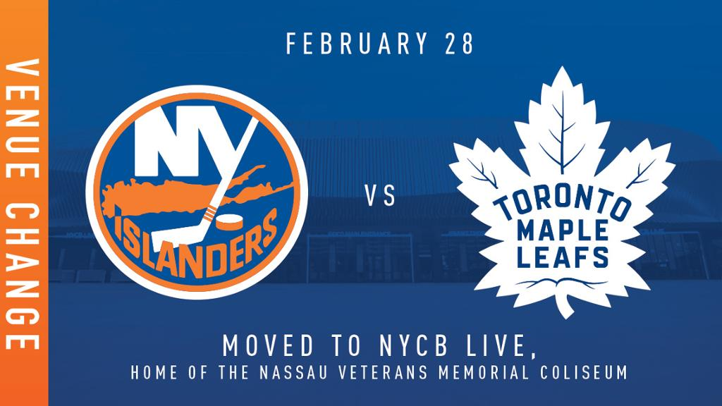 Isles vs Leafs Game Venue Changed